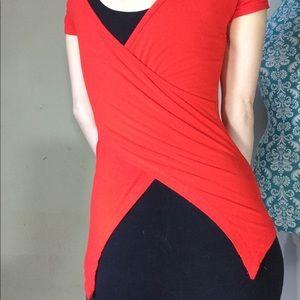 Capezio Tops - SALE‼️ KRAZY Hot Tamale RED Stretch Blouse